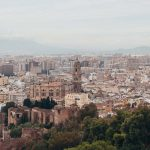 Wallpaper of the view over Malaga