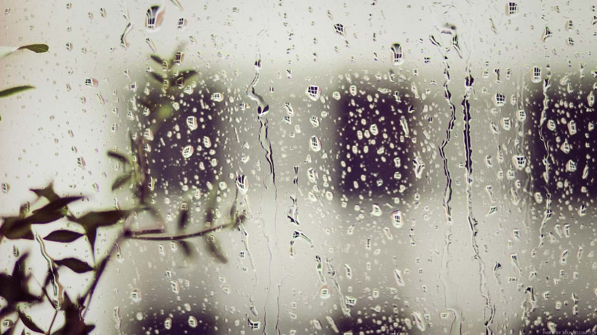 Free wallpaper with raindrops on a window