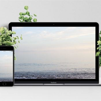 Mockup of Ocean view free wallpaper from Malaga Spain