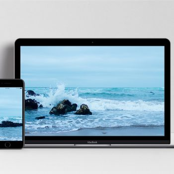 Mockup of Ocean view free wallpaper from Portugal