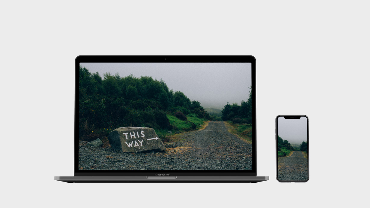 Mockup of This Way desktop wallpaper